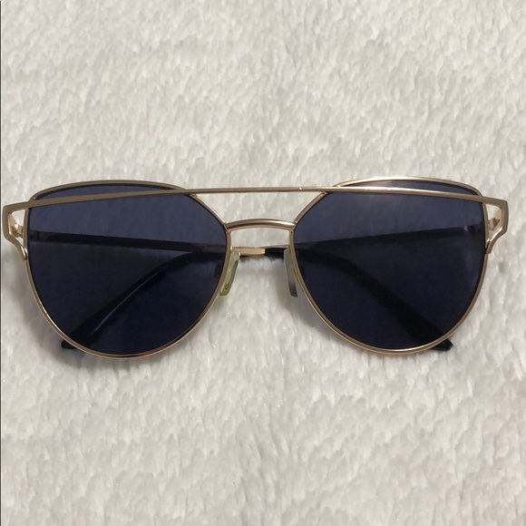 Aldo Sunglasses with Gold Frame and Black Lenses